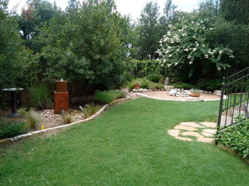 Backyard Garden with Lawn