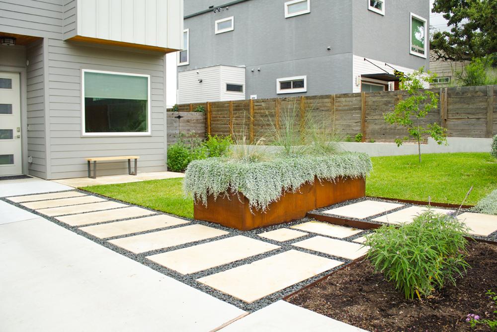 East Austin Edible & Family Friendly Front Yard Landscape