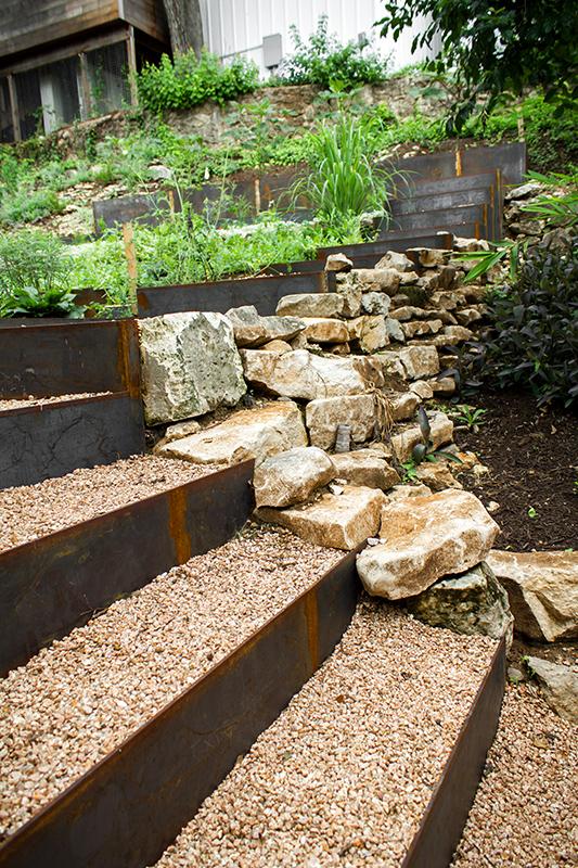 Granite Gravel Step & Stonework Feature