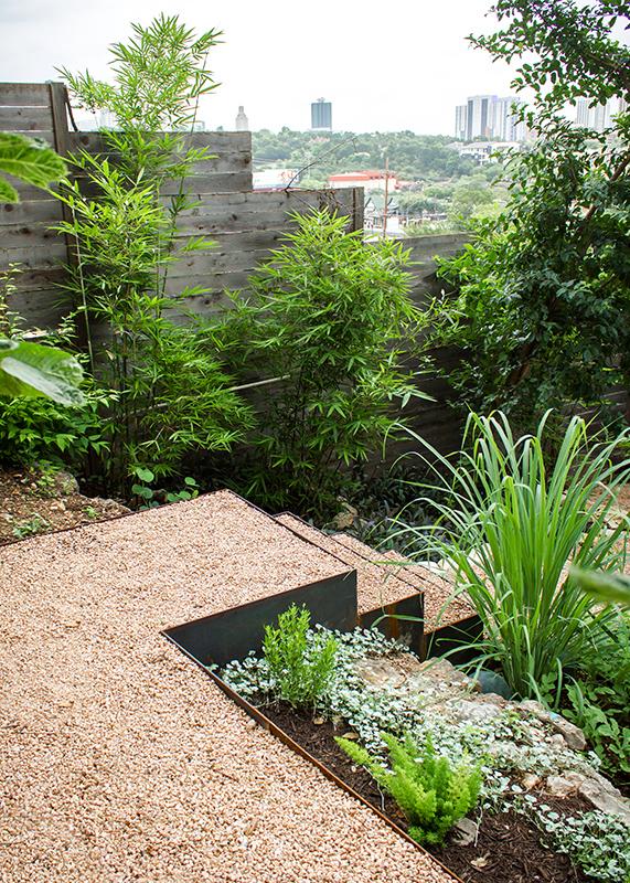Granite Gravel Step Feature